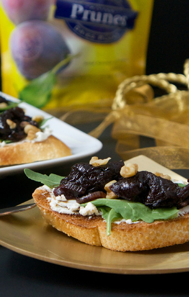 Prune & Goat Cheese Bruschetta