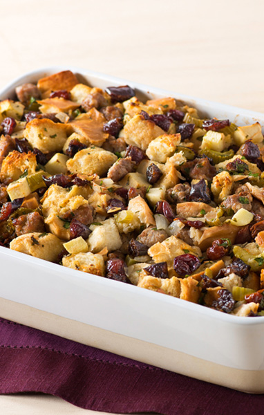 Sausage, Apple, Cherry and Prune Stuffing