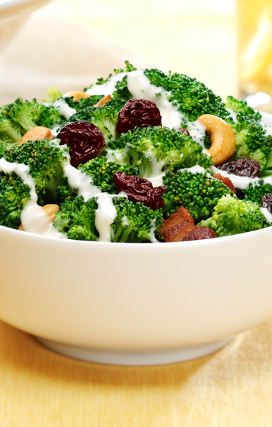 Broccoli, Bacon and Cherry Salad