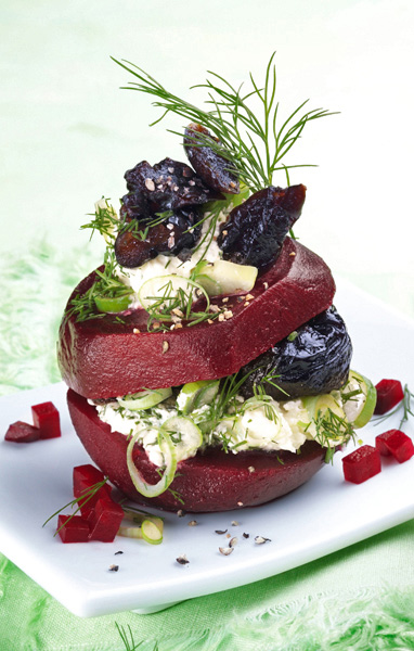 Red Beet and Prune Tower