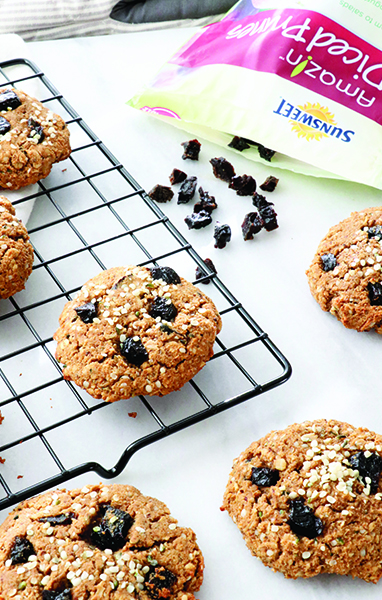 Prune Protein Breakfast Cookies
